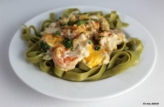 Creamy Shrimp and Scallop Pasta