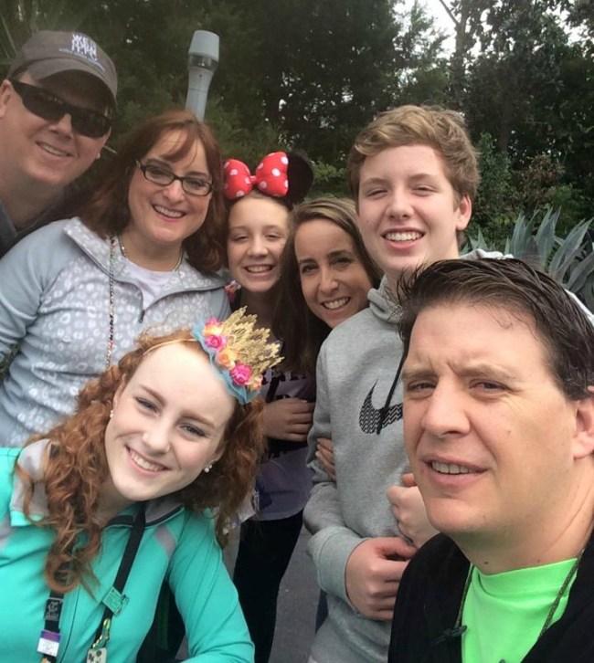 Family at Disney