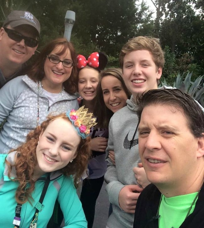 Family at Disney