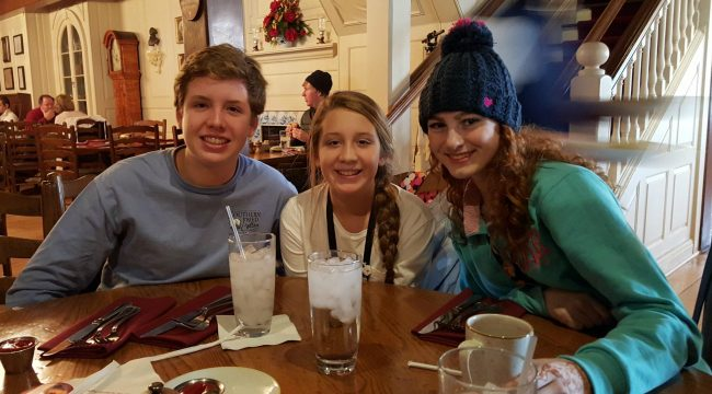 Lunch with cousins