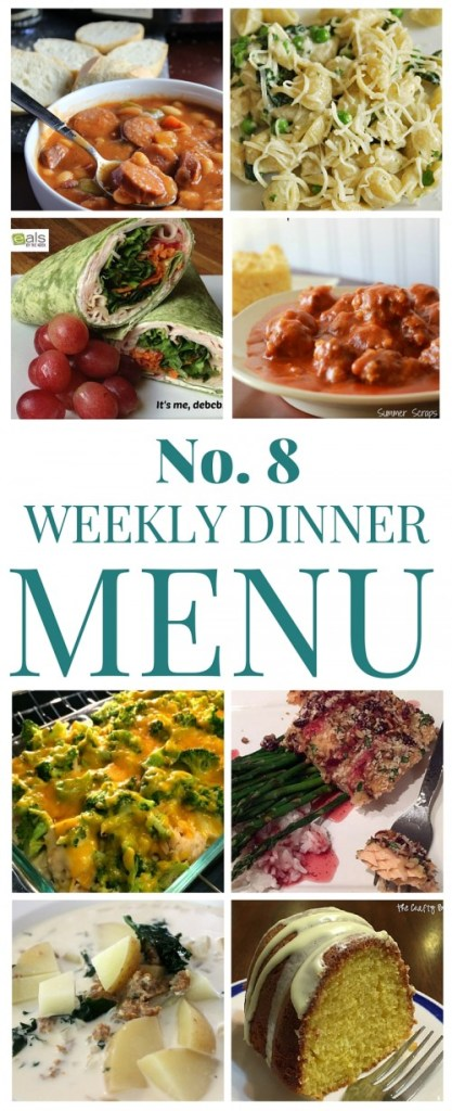What's for dinner (Menu #8)