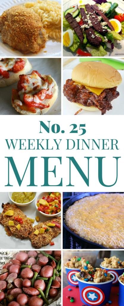 Dinner menu 25