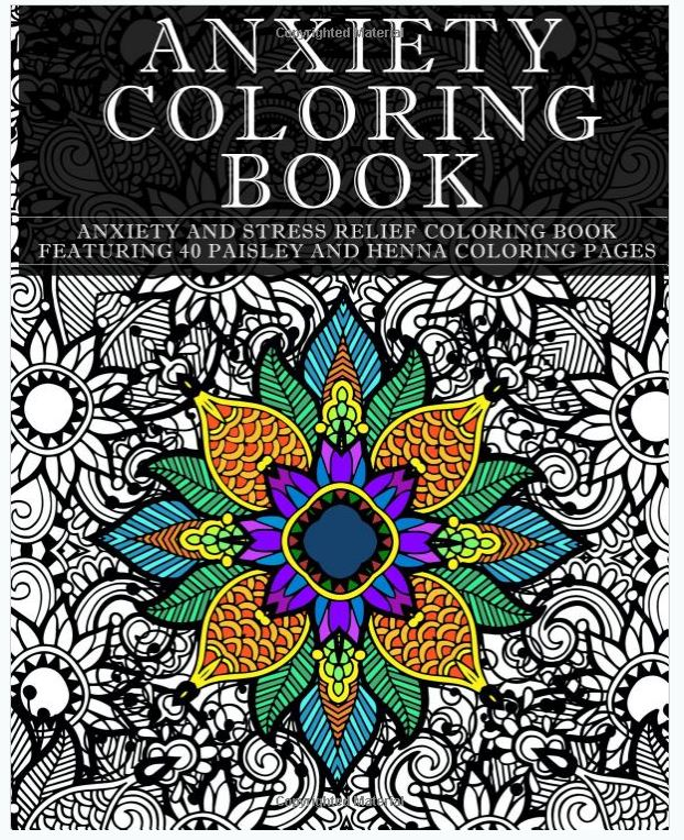 anxiety coloring book