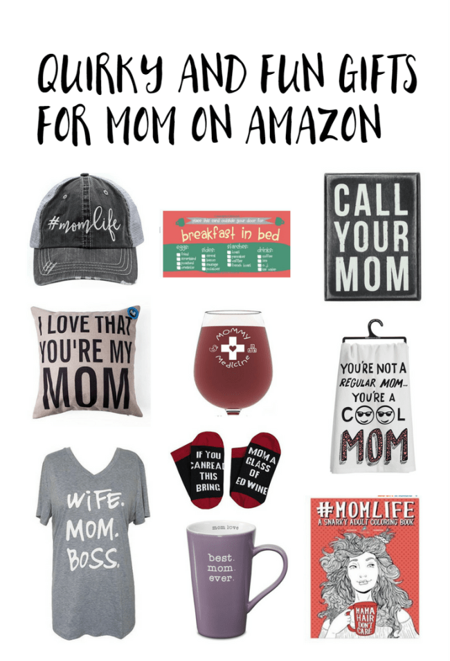 Quirky and fun gifts for mom on Amazon