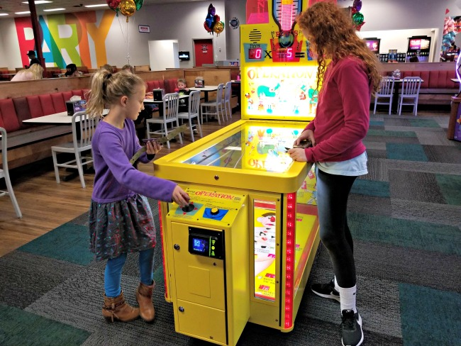 Operation game at Chuck E. Cheese's