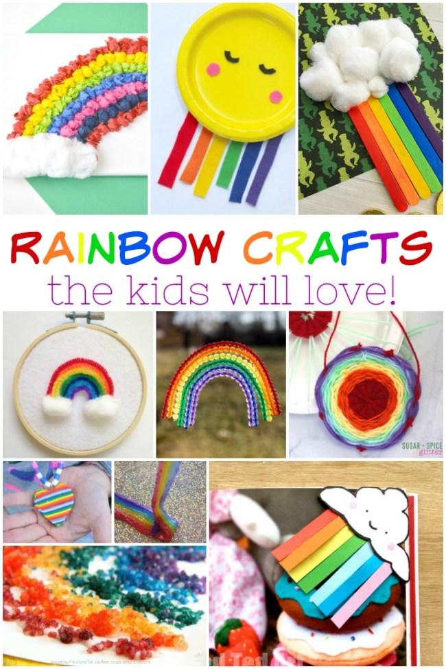 Rainbow crafts the kids will love