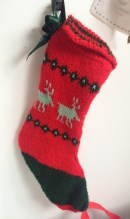 Mary's knitted stocking