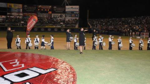 Honores a la Bandera en la inauguración de la temporada en Mexicali