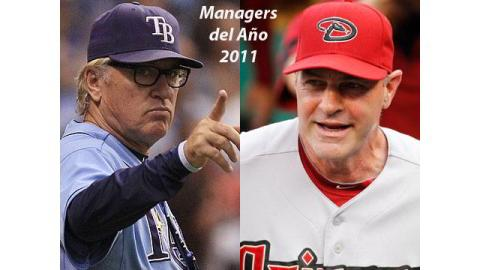 Joe Maddon y Kirk Gibson Managers del Año 2011