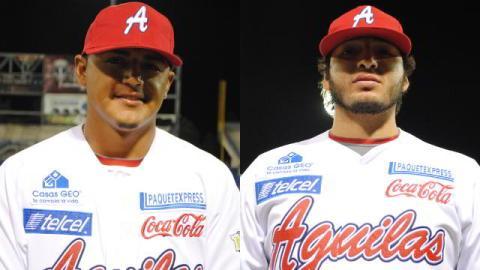 Marco Duarte y Ricky Gutiérrez de Águilas de Mexicali