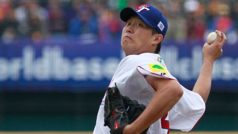 Chien-Ming Wang pitcher de China Taipei