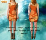 Curvaceous Orange 05 Body Con Dress