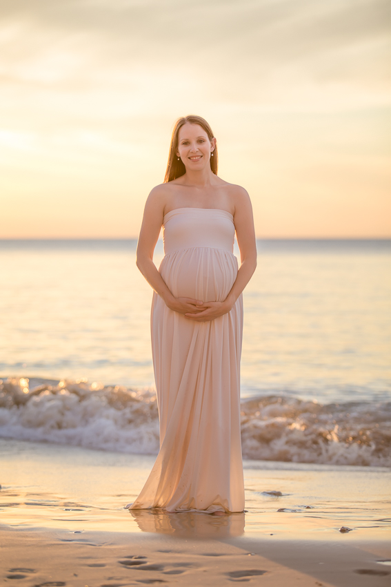 maternity photography session at port willunga beach south australia
