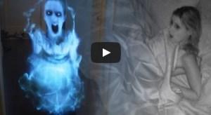 Novio bromista aterroriza a su pareja con holograma de un fantasma