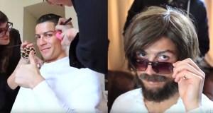 Cristiano Ronaldo se disfraza de mendigo y sorprende a varios por las calles de Madrid