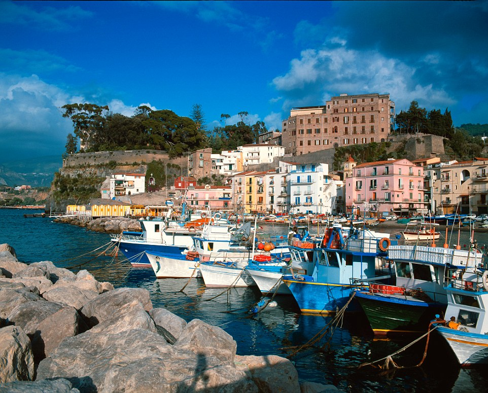 Italy Gulf of Naples Sorrento Marina Grande