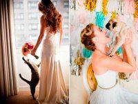 30 fotos conmovedoras de parejas que incluyeron a sus mascotas en su boda