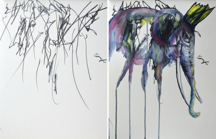 artist-turns-her-two-year-olds-sketches-into-paintings-5-730x471