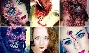 Se acerca Halloween: esta artista autodidacta del maquillaje crea diseños horriblemente realistas para una gran noche de miedo