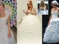 ¿Son estos los peores vestidos de novia? Al menos se llevarían el premio a los más extravagantes