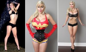 Esta modelo lleva gastados más de  120.000$ en 15 cirugías en busca de una cintura de 14 pulgadas para parecerse a un personaje de dibujos animados