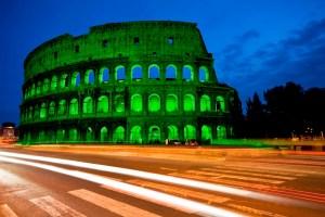 Mira cómo lucen los grandes monumentos del mundo vestidos de verde en honor a San Patricio