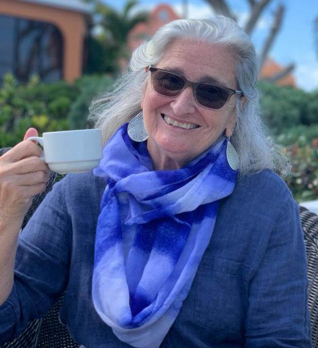 Deb Gowen drinking tea