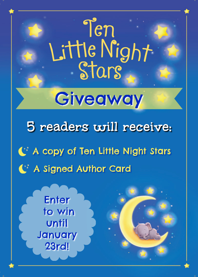 One week left to enter the Ten Little Night Stars Giveaway!