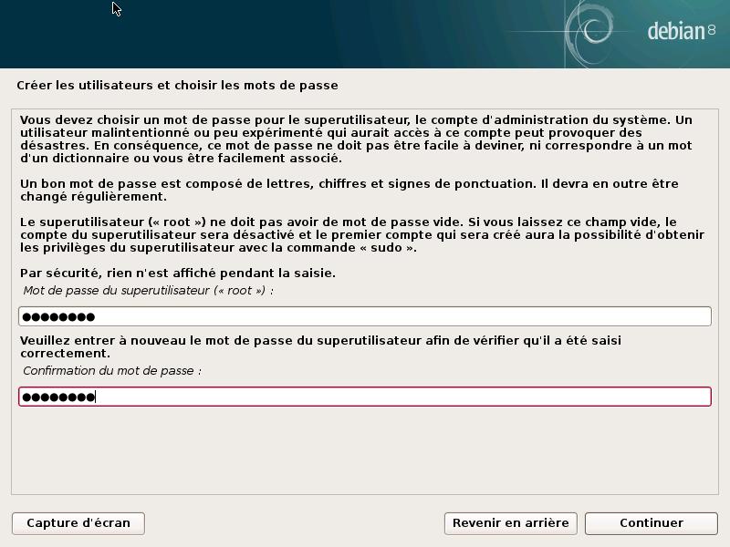 Mot de passe administrateur