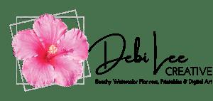 Logo - Debi Lee Creative - Beachy watercolor planners, printables and digital art