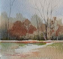 watercolor trees painting debiriley.com