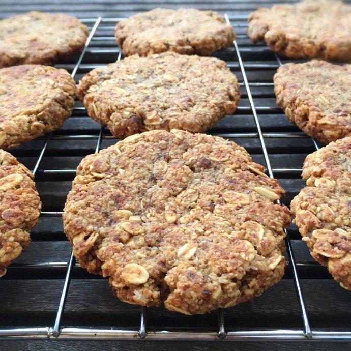 Geïmproviseerde haver-koekjes