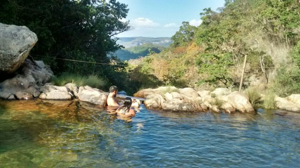 Vista da piscina natural