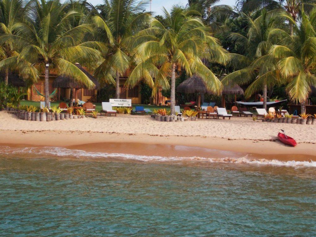 Praia em frente a pousada em Barra Grande