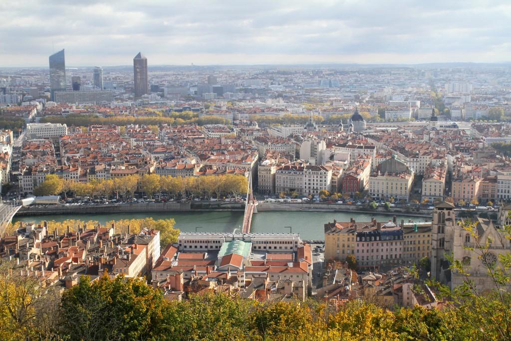 Deux touristes à Lyon