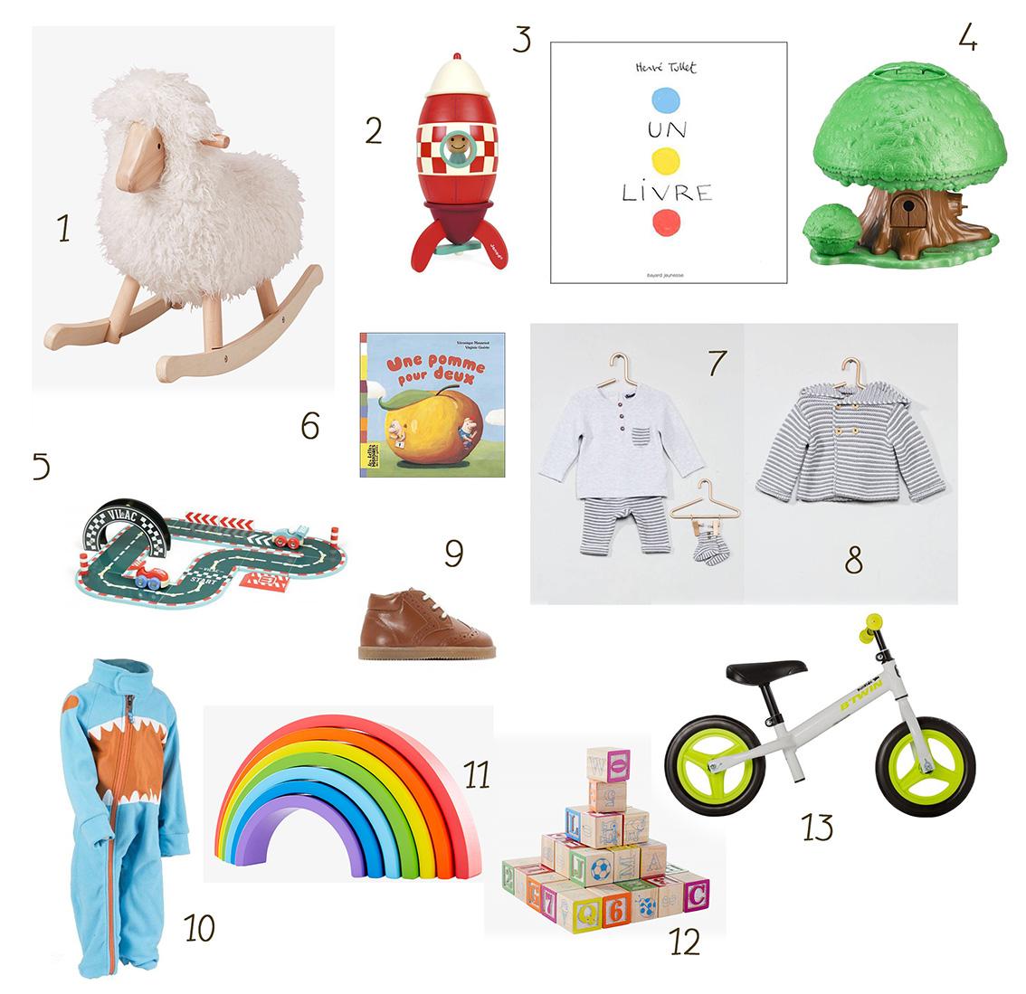 Des cadeaux de Noël pour un bébé