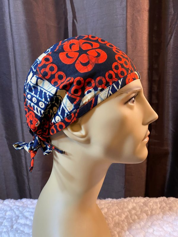 African print scrub cap for men
