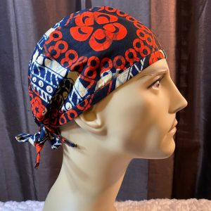 African print scrub cap for men