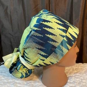 Green ankara scrub cap