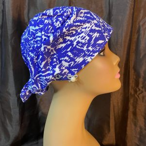 Abstract blue and white scrub hat