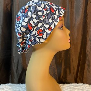cherries on a grey background scrub hat