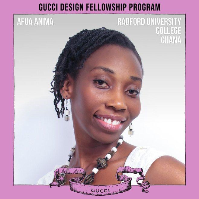 Afua Anima | Gucci Design Fellowship Program