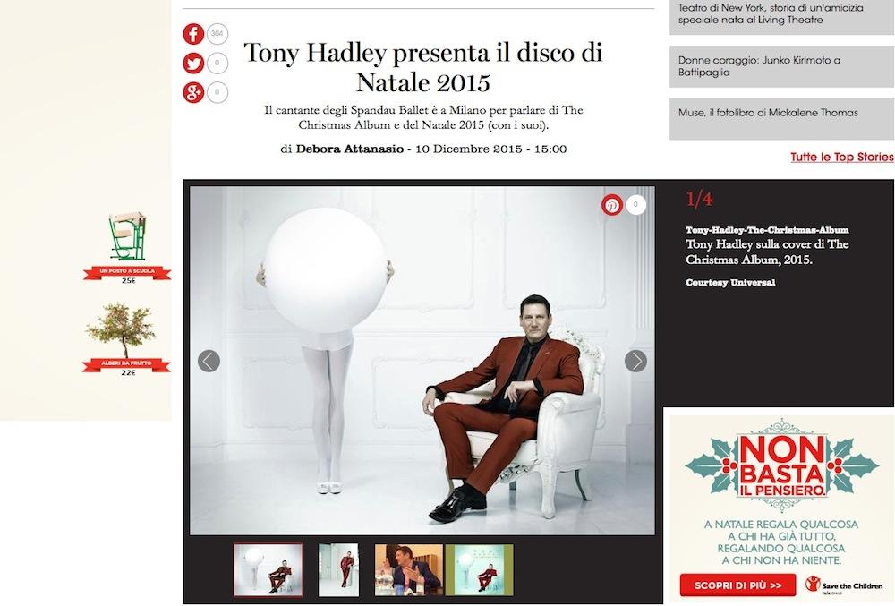 Tony Hadley adora il Natale e gli dedica un disco