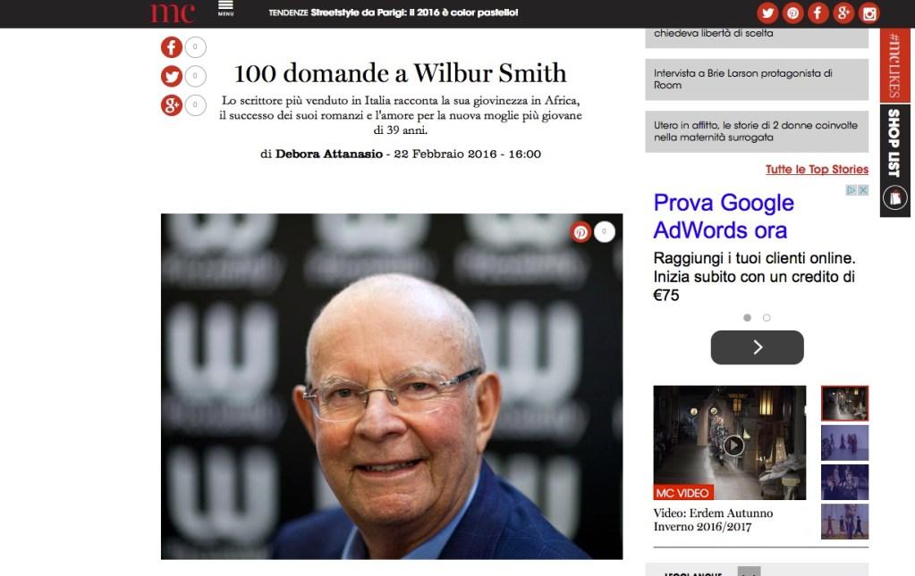 100 domande divertenti a Wilbur Smith