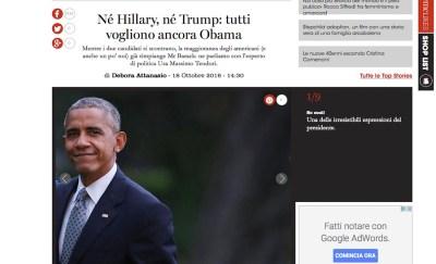 Né Hillary, né Trump: tutti vogliono Barack Obama