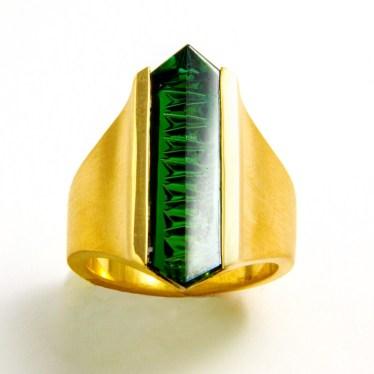 Green Tourmaline Ring 2016 Private Collection Deborah Aguado