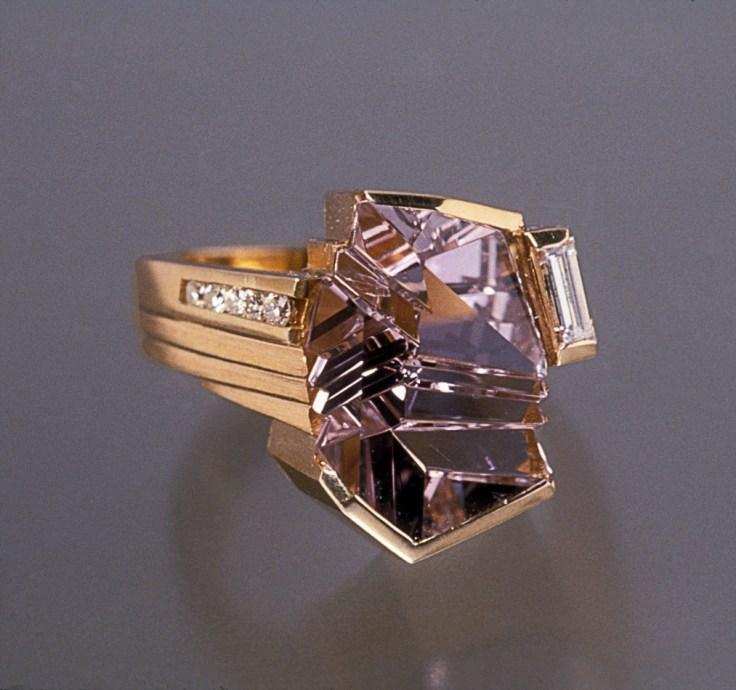 ring golf pink tourmaline cut by munsteiner
