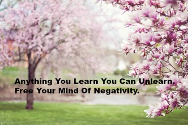 Anything You Learn You Can Unlearn. Free Your Mind Of Negativity.