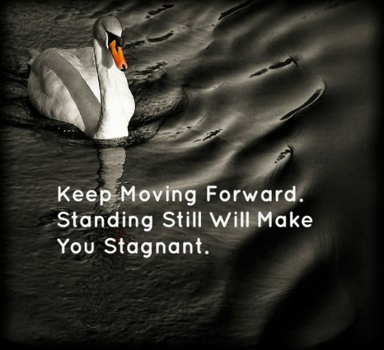 Keep Moving Forward. Standing Still Will Make You Stagnant.