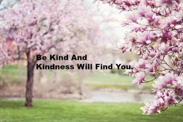 Be Kind And Kindness Will Find You.
